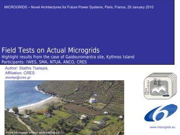 S. Tselepis The Kythnos Microgrid - Microgrids