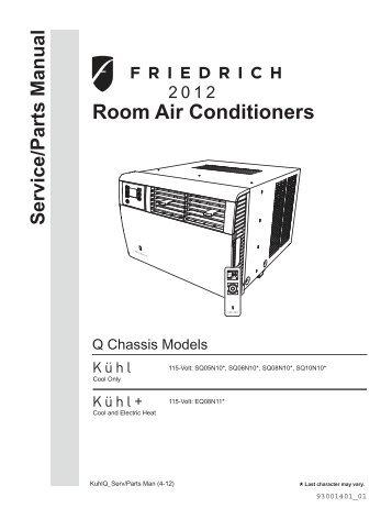 Friedrich Furnace manual