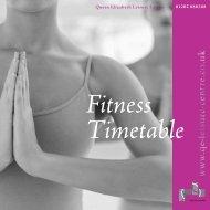 Fitness Timetable - Queen Elizabeth Leisure Centre