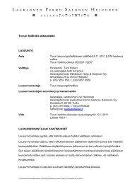 Turun hallinto-oikeudelle - Turku