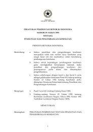 Peraturan Pemerintah RI No. 39 Tahun 1995 tentang Penelitian dan ...