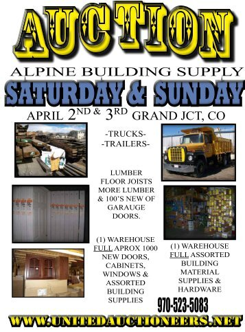 ALPINE BUILDING SUPPLY - United Auctioneers