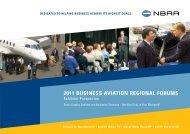 2011 BUSINESS AVIATION REGIONAL FORUMS - NBAA