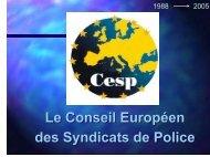 Le CESP et la Commission Européenne à Bruxelles