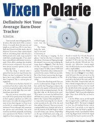 Definitely Not Your Average Barn-Door Tracker - Vixen Optics