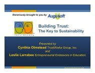 The Key to Sustainability - Augusoft