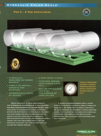 HYDRAULIC CHLOR-5CALE@ - Force Flow