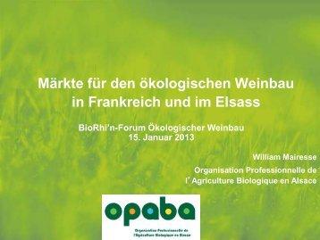 Conférence Agriculture Biologique - Opaba