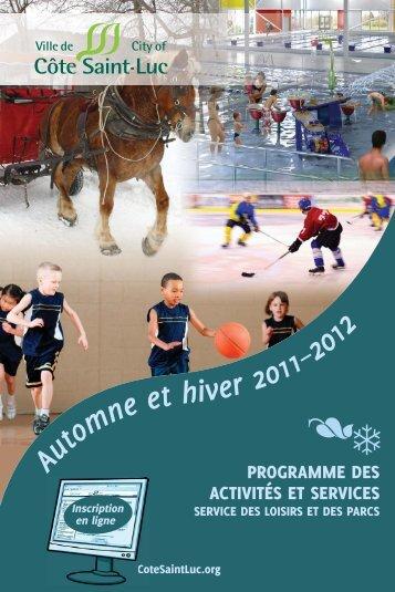 Fall-Winter 2011-2012 CSL Brochure (fren).indd - City of Côte Saint ...