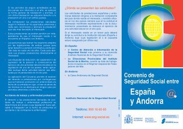 convenio de Seguridad Social entre España y Andorra