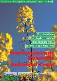 Nachwachsende Rohstoffe Industrial Crops - nova-Institut GmbH