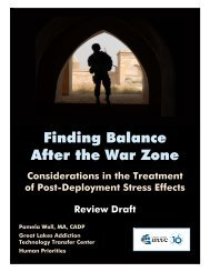 Finding Balance After the War Zone - the ATTC Network