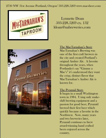 View the PDF - Pyramid Breweries