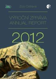 výroční zpráva 2012 ( 11,18 MB ) - Zoo Ostrava