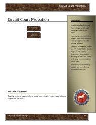 Circuit Court Probation - Jackson County, Michigan
