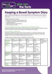 Keeping a Symptom Diary - Bowel Cancer UK