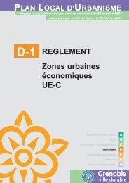 REGLEMENT Zones urbaines économiques UE-C - Grenoble