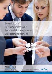 Zeitwirtschaft Leistungserfassung Personaleinsatzplanung ... - Zeit AG