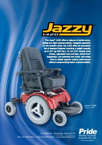Jazzy 1420 Brochure - Pride Mobility Products