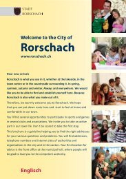 Welcome To The City Of Rorschach - Integration im Kanton St.Gallen