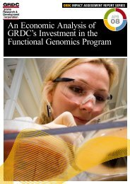 An Economic Analysis of GRDC's Investment in the Functional ...