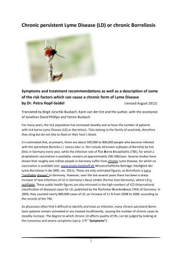 Relapse/Persistence of Lyme Disease Despite Antibiotic Therapy