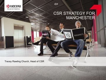 CSR STRATEGY FOR MANCHESTER - KYOCERA Document ...