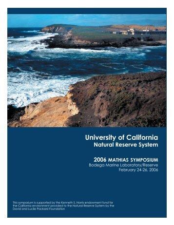 2006 Mathias Symposium - Natural Reserve System