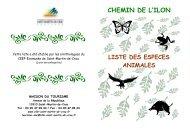 Liste des espèces animales du chemin de l'Ilon - Ville de Saint ...