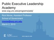 Public Executive Leadership Academy