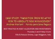 BEST PRACTICE IN ASSET ALLOCATION AND ... - Pegaso
