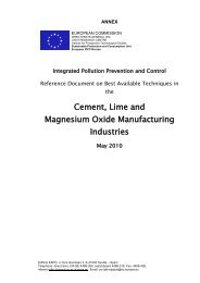 Cement, Lime and Magnesium Oxide Manufacturing Industries