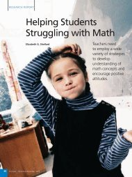 Helping Students Struggling with Math - National Association of ...