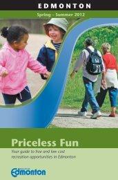Priceless Fun Guide - Summer 2012 - City of Edmonton