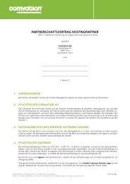PARTNERSCHAFTSVERTRAG HOSTINGPARTNER - Contrexx