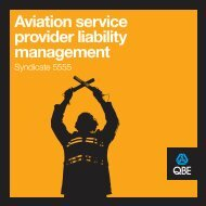 Aviation service provider liability management - syndicate 5555 - QBE
