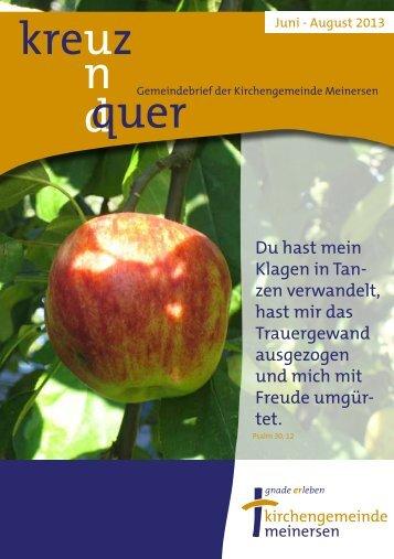 Ausgabe 3/2013 - Ev.-luth. Kirchengemeinde Meinersen