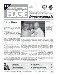Recognition - Professional Ski Instructors of America Intermountain ...