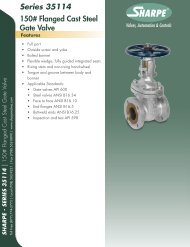 Series 35114 150# Flanged Cast Steel Gate Valve - Sharpe® Valves