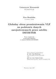 Globalny obraz promieniowania VLF na podstawie danych ...