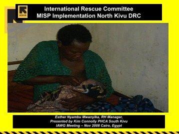 Implementation of the MISP in N. Kivu, DRC - IAWG