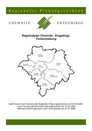 Regionalplan Chemnitz - Erzgebirge Fortschreibung