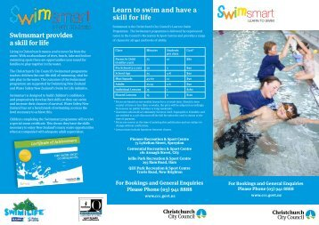 Swimsmart provides a skill for life Learn to swim and have a skill for life
