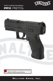 Safety & instruction manual ppx pistol - Walther