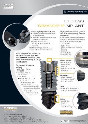 THE BEGO SEMADOS® RI IMPLANT - Blue Dental