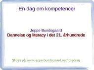 En dag om kompetencer - Jeppe Bundsgaard - bundsgaard.net