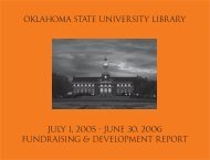 FY2006 Annual Report - Oklahoma State University Library