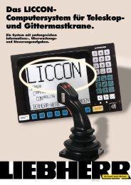 Das LICCON- Computersystem für Teleskop- und Gittermastkrane.