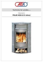 ABX s r.o.   Krbová kamna - Polar 4656-6-IV rohový