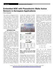 Embedded NDE with Piezoelectric Wafer Active Sensors in ...